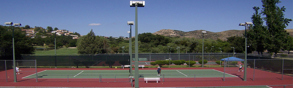 Four lighted tennis courts to play all year round.  Tennis camps and lessons too.